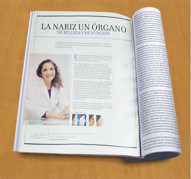 Doctora Navarrete en revista Caras