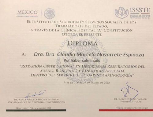 Dra. Navarrete realiza estadía de perfeccionamiento en ISSSTE